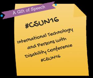 CSUN Assistive Technology Conference 2016