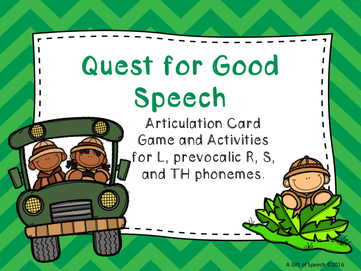 Articulation Activity Quest Good Speech