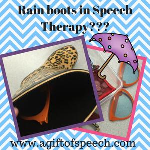 In rain boots!