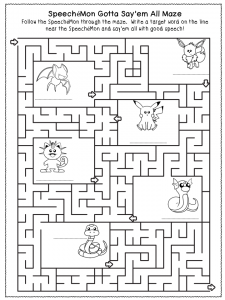 SpeecheMon maze