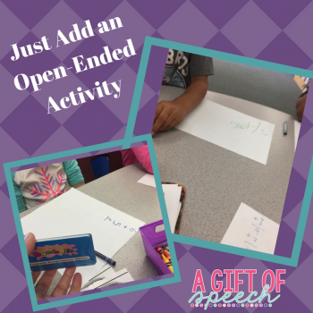 Just Add Open-Ended Activity