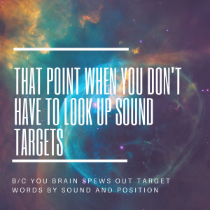 articulation targets