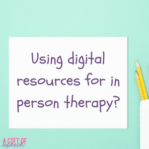 Digital resources for speech therapy!